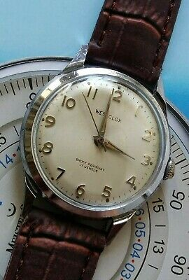 Mens Vintage WESTCLOX 17 Jewels Wind Up Wrist Watch