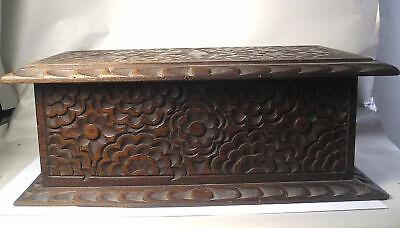 An Antique Carved Chinese Wood Box Z34