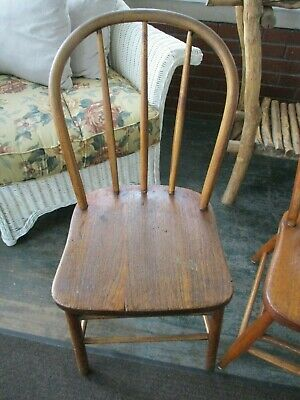 Antiques Primitive Country Farm Kitchen Bentwood Chair arts crafts home decor