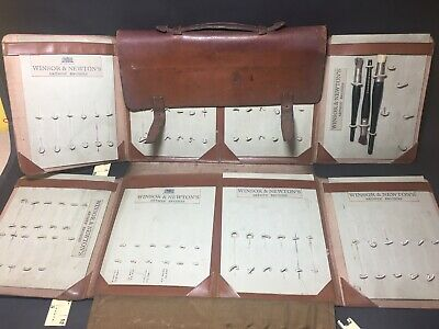 Winsor & Newton Salesmans Brush Sample Leather Artists Watercolour Briefcase
