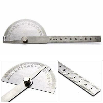 Stainless Steel 0-180 degree Protractor Angle Finder Measuring Ruler Arm To Y0Q8