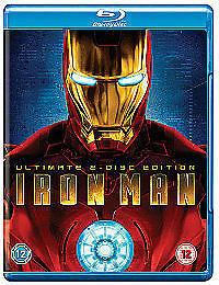 IRON MAN - Robert Downey Jr (ULTIMATE 2 DISC EDITION MARVEL BLU RAY)