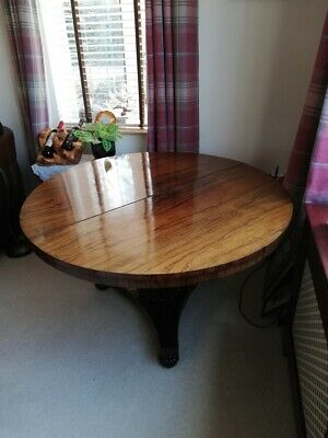 Antique Victorian Rosewood Circular Centre Dining Table