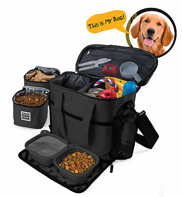 Mobile Dog Gear Week Away Tote Dog Travel bag for Med and Large Dogs Black