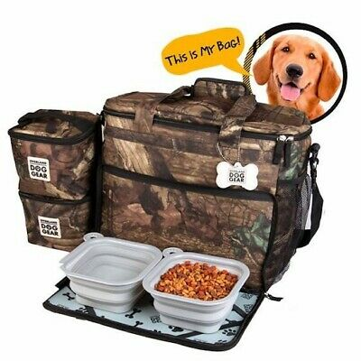 Mobile Dog Gear Week Away Tote Dog Travel Bag for Med and Large Dogs Camo