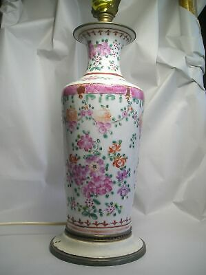 An Antique HP Chinese Porcelain Lamp Z65