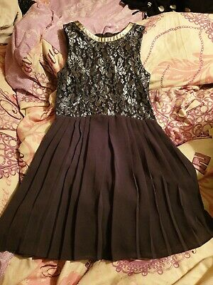 6 Years Next Girls Grey Silver Party Dress