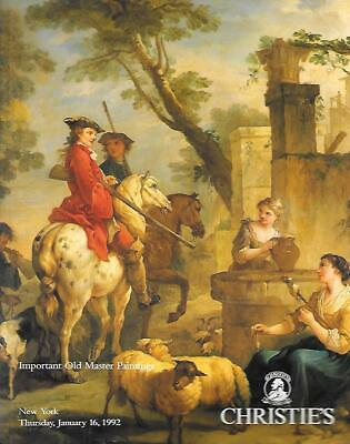 Christie's Sale 7396 Important Old Master Paintings Auction Catalog 1992