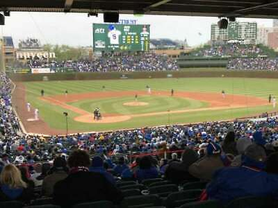 4 tickets LOWERS sec 220 Chicago Cubs vs Brewers 5/12/20 5/12 Wrigley Field