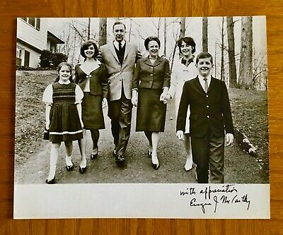 Political Collectables, Eugene J. McCarthy Autographed Family Picture  - Rare!