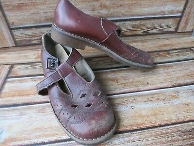 VINTAGE GIRLS START-RITE T-BAR SHOES LEATHER UPPERS 1940'S? size 12.5