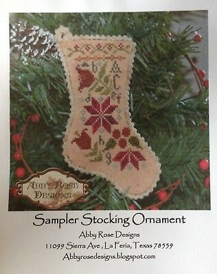 Sampler Stocking Ornament Chart by Abby Rose Designs