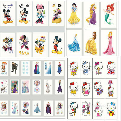 Childrens Boys Girls Temporary Tattoos Kids Party Loot Stickers