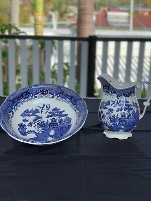 Old fashioned style Bowl and Jug set