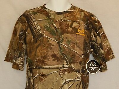 NEW Realtree AP Camo Buck Horn Deer Bow Hunting Camouflage T Shirt Mens L XL