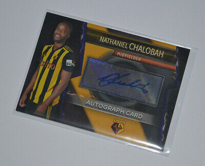 Topps Match Attax Ultimate Autograph card // Nathaniel Chalobah WATFORD
