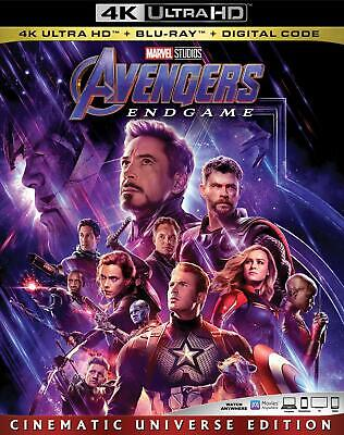 Avengers: Endgame (4K UHD, Blu-ray, Digital) Brand New
