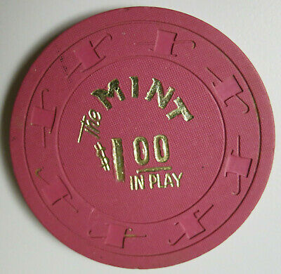 "Extremely RARE Las Vegas Nevada THE MINT CASINO $1.00 ""IN PLAY"" Pink Casino Chip"