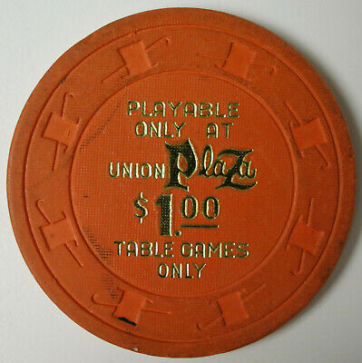 "Vintage 1980's UNION PLAZA Las Vegas Nevada $1.00 Casino Chip ""Table Games Only"""