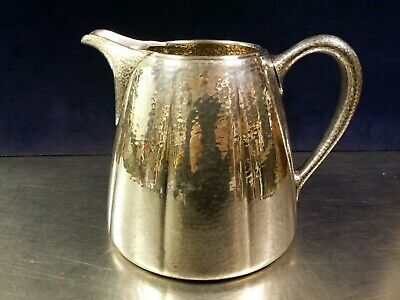 Meriden International Silver Plate Hammered Water Pitcher, 967 Arts & Crafts