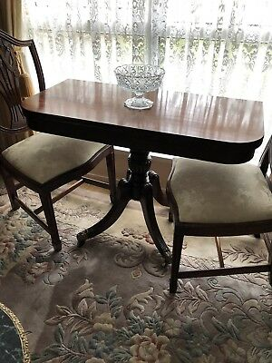 Antique Georgian Mahogany Fold Over Table