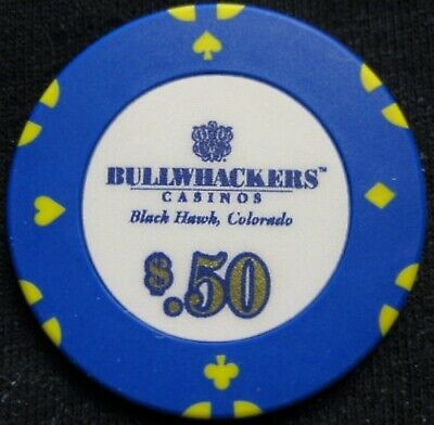Bullwhackers Casino - 50 cent Casino Chip - Black Hawk COLORADO - Casino is clos