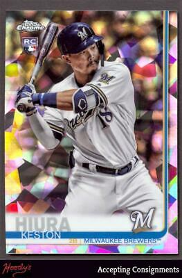 2019 Topps Chrome Sapphire #684 Keston Hiura RC ROOKIE BREWERS