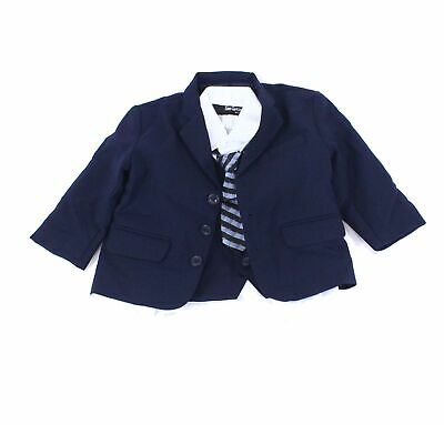 Gino Giovanni Baby Boys Suits Blue USA Size 24 Months 4-Piece Two-Button $60 853