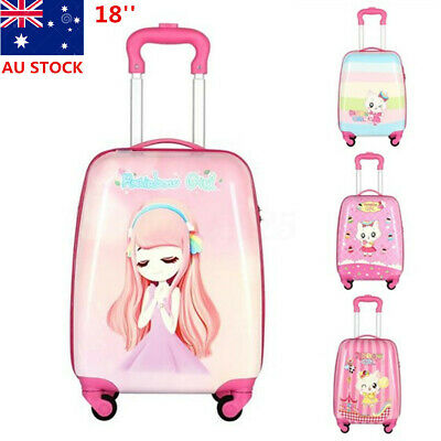 18'' Children Kids School Backpack Luggage Girls Travel Cabin Trolley Suitcase