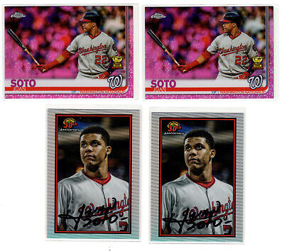 4x  JUAN SOTO Refractor Lot  ▪  2019 Topps Chrome PINK Rookie Cup  Bowman 30th