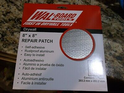 "Pack Of 5 WAL BOARD TOOLS 8"" X 8"" DRYWALL REPAIR PATCH"