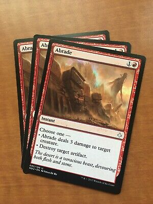 3x Abrade Hour of Devastation MTG Magic The Gathering