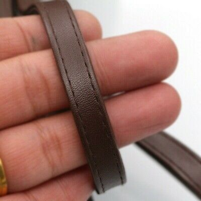 Faux PU Leather Flat Cord Strap Rope String Tape DIY Craft Material Fabric