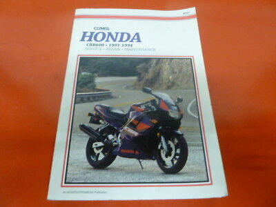 Honda cbr600f pc25 Clymer service manual 1991-1994 cbr 600 supersport