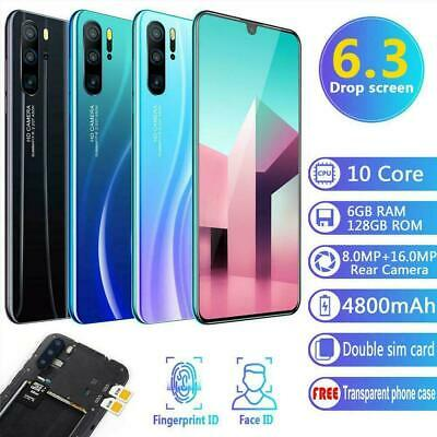 "6.3"" P36 Android 9.1 Smartphone Dual SIM 6GB+128GB Face Unlocked Finger Prof"