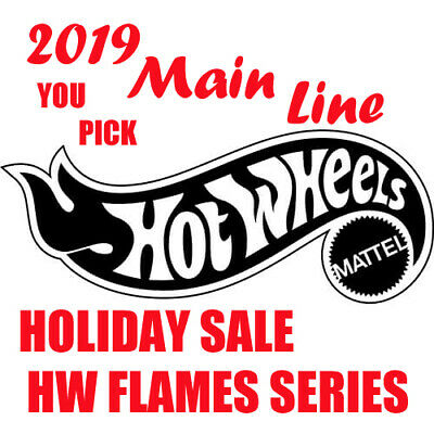 Hot Wheels **YOU PICK** 2019 Main Line HW Flames Series Holiday Super Sale