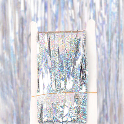 Length 2M Glitter Colorful Backdrop Drapes Curtain Swag Wedding Party Decor AM8