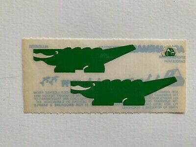 Rare Vintage Stickers - Cardesign - Ark Animal, Gorilla Alligator 1983