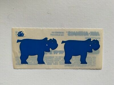 Rare Vintage Stickers - Cardesign - Ark Animal, Rhinos 1983