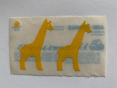 Rare Vintage Stickers - Cardesign - Ark Animal, Giraffe 1983