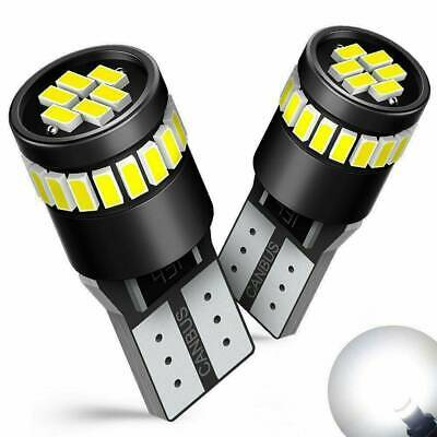 2X CANBUS T10 501 194 W5W SMD 24 LED Car HID Error Free Wedge Light White Bulb