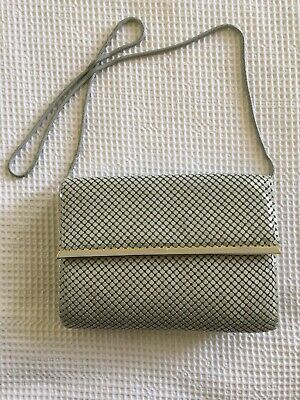 Vintage Glomesh Style Handbag. Grey In Colour. Strandbags Label.