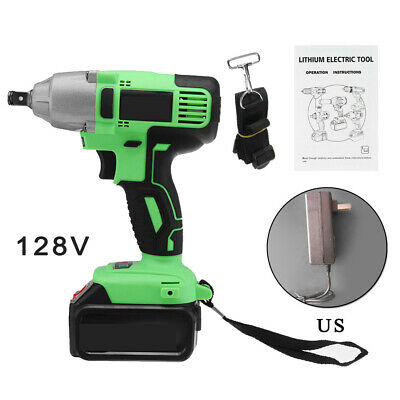 128V 330Nm Rechargeable Cordless Electric Impact Brushless Wrench Set Tool