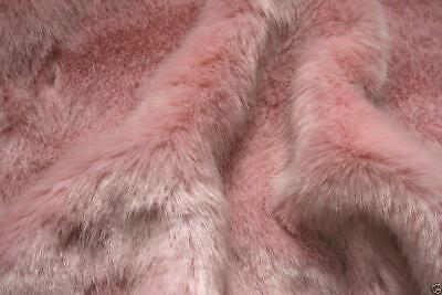 Super Luxury Faux Fur Fabric Material - SWISS BABY PINK