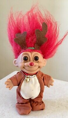 Russ Vintage Troll Doll Christmas Ornament Mrs Claus 1980s RED Hair