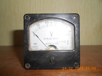 An old voltmeter, the USSR, 1966.