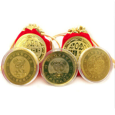 Gold Plated Lucky Dogshit Commemorative Coin Souvenir Coin Funny Gifts ME