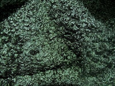 CURLY Teddy Faux Fur Fabric Material - BOTTLE GREEN