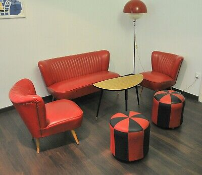 Vintage retro set of cocktail chairs and sofa, 1960's