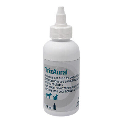 TrizAural Ear Cleaner for Cats and Dogs 118ml bottle